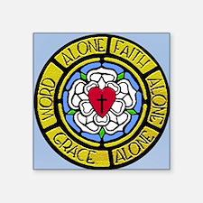 "Grace Faith Word License Pl Square Sticker 3"" x 3"""