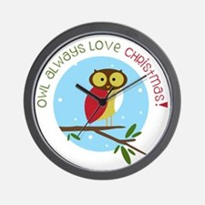 Love Christmas Wall Clock