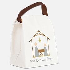 True Love Was Born Canvas Lunch Bag