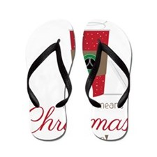 Christmas is Near Flip Flops