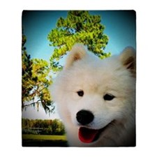 Chi Samoyed Throw Blanket