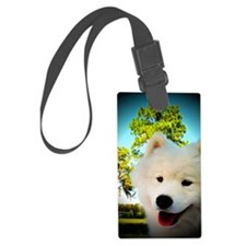 Chi Samoyed Luggage Tag