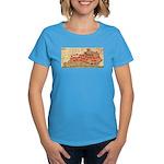 Flat Kentucky Women's Dark T-Shirt