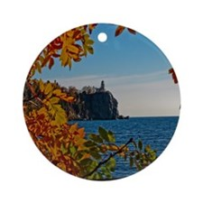 Fall at Split Rock Round Ornament