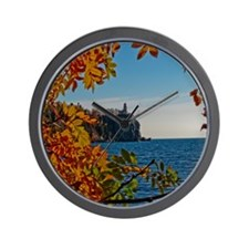 Fall at Split Rock Wall Clock