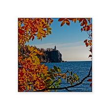 """Fall at Split Rock Square Sticker 3"""" x 3"""""""