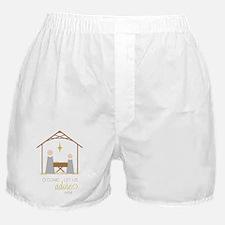 Let Us Adore Him Boxer Shorts