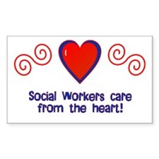 Social Workers Rectangle Decal