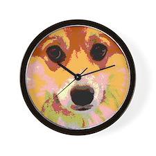 Pembroke Welsh Corgi Reflective Wall Clock