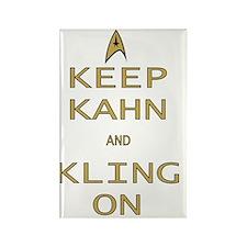 Keep Kahn  Kling On Rectangle Magnet