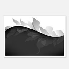 Elegant Black and White Postcards (Package of 8)