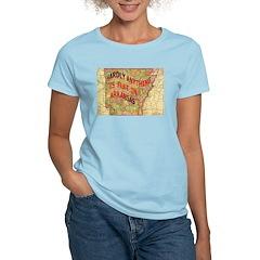 Flat Arkansas Women's Light T-Shirt