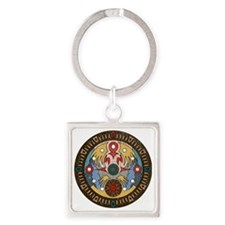Clock Tower Square Keychain