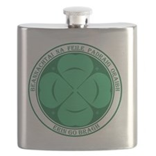Irish for St Pats Clover Flask