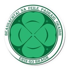 Irish for St Pats Clover Round Car Magnet