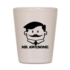 Mr Awesome Shot Glass