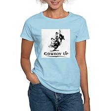Cowboy Up Women's Pink T-Shirt