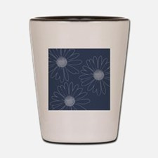 Blue and White Daisies Shot Glass