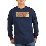 Flat Tennessee Long Sleeve Dark T-Shirt