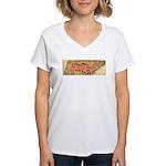 Flat Tennessee Women's V-Neck T-Shirt