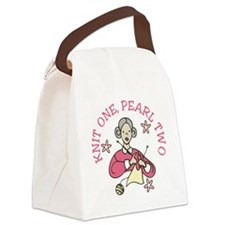 Knit One, Pearl Two Canvas Lunch Bag