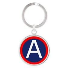 US_3rd_Army_Large Round Keychain