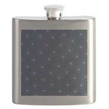 Blue and White Daisies Flask