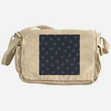 Blue and White Daisies Messenger Bag