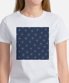 Blue and White Daisies Tee
