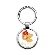 Happy St. Nick Day Round Keychain