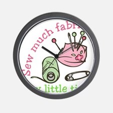 Sew Much Fabric Wall Clock