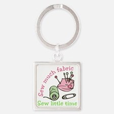 Sew Much Fabric Square Keychain