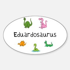 Eduardosaurus Oval Decal