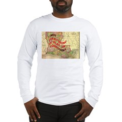 Flat Louisiana Long Sleeve T-Shirt