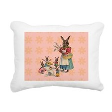 Vintage Easter Bunny wit Rectangular Canvas Pillow