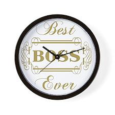Best Boss Ever (Framed) Wall Clock