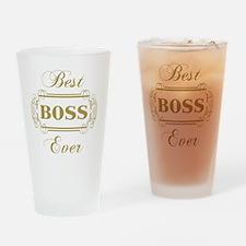 Best Boss Ever (Framed) Drinking Glass