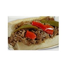 Italian Beef Sandwich from Chicag Rectangle Magnet