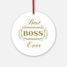 Best Boss Ever (Framed) Round Ornament