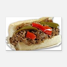 Italian Beef Sandwich from Ch Rectangle Car Magnet