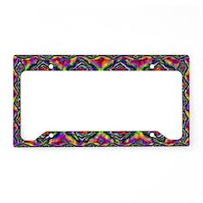 psychedelic area rug License Plate Holder