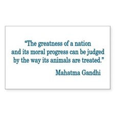 Gandhi Quote Rectangle Decal