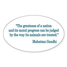 Gandhi Quote Oval Decal
