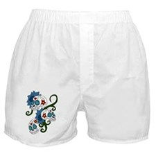 Skull And FLowers Boxer Shorts