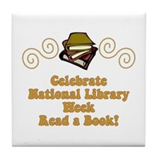 National Library Week Tile Coaster