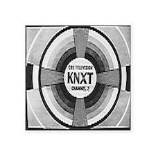"KNXT Test Pattern Square Sticker 3"" x 3"""