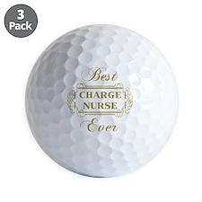Best Charge Nurse Ever (Framed) Golf Ball
