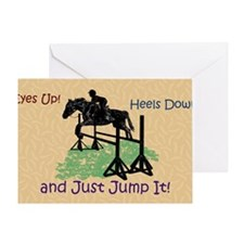 Fun Hunter/Jumper Equestrian Horse Greeting Card