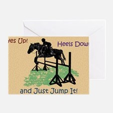 Fun Hunter/Jumper Equestrian Horse Greeting Card