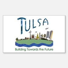Tulsa Centennial Rectangle Decal